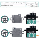 M5Stack Micro Servo Motor Kit 180 Degree with Metal Gear Compatible with Le Go Stand for Arduino