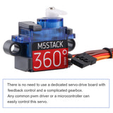 9G M5Stack Micro Servo Motor Kit 360 Degree with Metal Gear  Le Go Stand for Arduino and UIFl