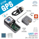 GPS Kit GPS Tracker Navigation Module M5Stack ATOM for Vehicle Ship Track Record and File Reading