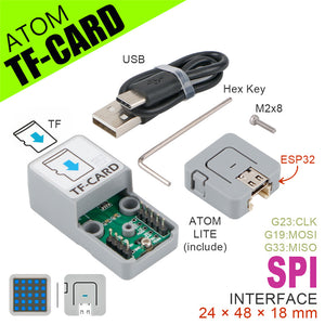 TF Card Memory Card 16GB Reader Module Kit M5Stack Self Elastic Slot Support FAT/FAT32 Format