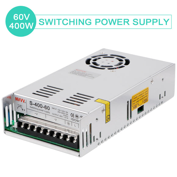 Universal Regulated Switching Power Supply AC DC 60V 6.6A 450W for CCTV  Computer Project
