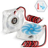 2pcs Brushless DC Cooling Fan with XH2.54-2P Wire for 3D Printe