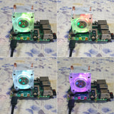 MakerFocus Ice Tower Cooler RGB Cooling Fan with Heatsink for Raspberry Pi 4B / 3B+ and 3B