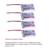 MakerFocus 4pcs 852540 3.7V 1000mAh Battery with JST1.25 Connector Lithium Rechargable Battery
