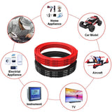 14 Gauge Silicone Wire 14AWG Wire 16.4ft (8.2ft Black and 8.2ft Red) Soft and Flexible