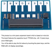 MakerFocus Piano Music Development Board for BBC Micro:bit Board with RGB Buzzer to Play Music