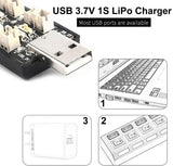 1S LiPo Battery USB Charger 3.7V/4.20V 6 Channel 1S LiPo Charger Tiny Whoop Blade