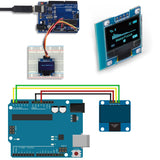 MakerFocus 0.96 Inch IIC Serial OLED Display 128*64 for Arduino with 40pcs Du-pont Wire