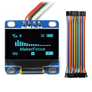 I2c IIC Serial Oled LCD LED Blue Display Module