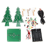 DIY Christmas Tree LED Flash Kit 3D Electronic Learning Kit