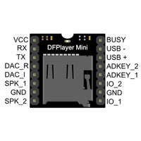 MakerFocus 2pcs DFPlayer Mini MP3 Player Module for Arduino Support TF Card and U Disk