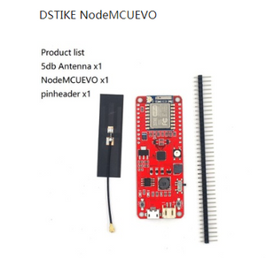 DSTIKE ESP8266 WiFi Kit NodemcuEVO with 4MB ESP07 5DB FPC Antenna for Arduino ESP8266 NodeMCU