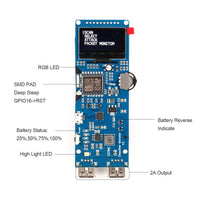 MakerFocus DSTIKE ESP8266 Development Board WiFi Deauther Monster Module V4 with 1.3 OLED Display
