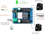 2Pcs Digital Amplifier Board, TPA3116D2 Two-Channel Stereo High Power Digital Subwoofer Power