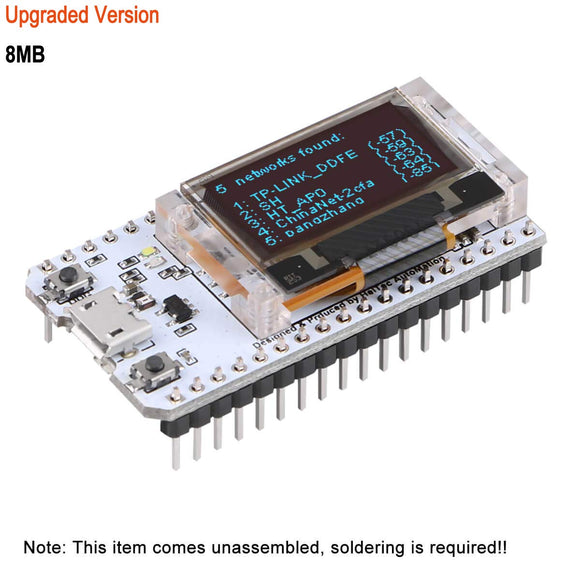 ESP32 Wifi development board with OLED
