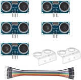 MakerFocus 5Pcs HC-SR04 Ultrasonic Module Distance Sensor Kit with Du-Pont Wire for Arduino UNO R3