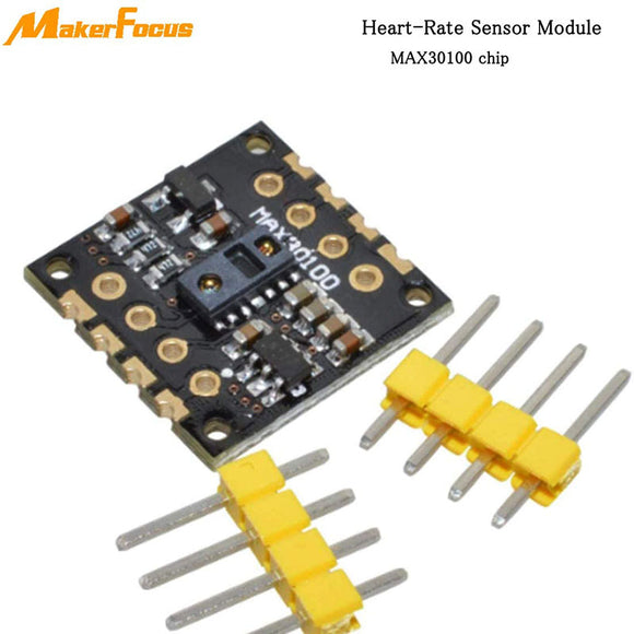 MakerFocus Heart-Rate Sensor Module MAX30100 for Wearable  Medical Devices Monitoring Devices