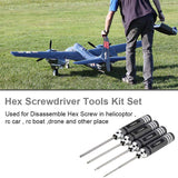 Hex Screw driver Tools Kit 4pcs Set for RC Helicopter (1.5mm 2.0mm 2.5mm 3.0mm)