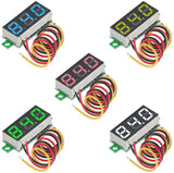 5pcs Mini Digital Voltmeter DC 0.28 Inch Three-Line DC 0-100V Mini Digital Voltmeter Gauge Teste