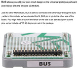 M5Stack ESP32 Official Bus Module with 215pin Bus Socket Stackable Demoboard Prototype Board