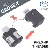 M5Stack 5Pcs PH2.0-4P T-Header Connector with 3 Ports Compatible with Grove Demoboard
