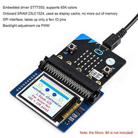 MakerFocus 1.8inch LCD Colorful Display 160x128 Pixels with SPI Interface for BBC Micro:bit