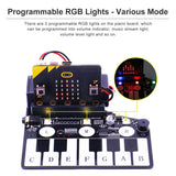 MakerFocus Piano Music Development Board for BBC Micro:bit Board with RGB Buzzer