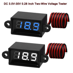 Two-Wire 3.0-30V Digital DC Waterproof Voltmeter