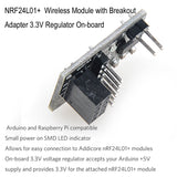 MakerFocus 4pcs NRF24L01+ Wireless Module with Breakout Adapter 3.3V Regulator On-board