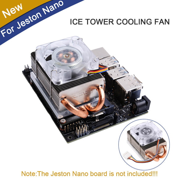 Jetson Nano Horizontal Radiator with Colorful LED Fan