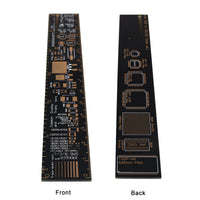MakerFocus 2pcs PCB Ruler 6 Inch 15cm Measuring Tool for Soldering Up Surface Mount Component