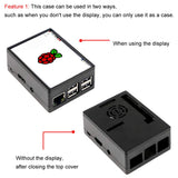 Raspberry Pi Case Compatible with 3.5 inch Display for RPi 3B/3B+/2B/2B+ with Cooling Fan