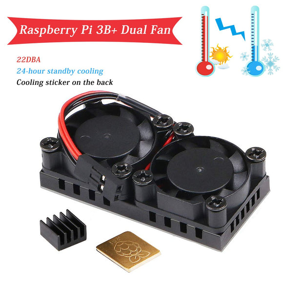 Raspberry Pi 3 B+ Dual Cooling Fan