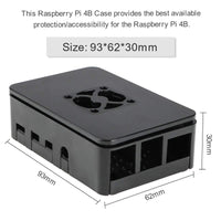 MakerFocus Raspberry Pi 4B ABS Protective Case with 3.0-5.8V 0.1A Cooling Fan