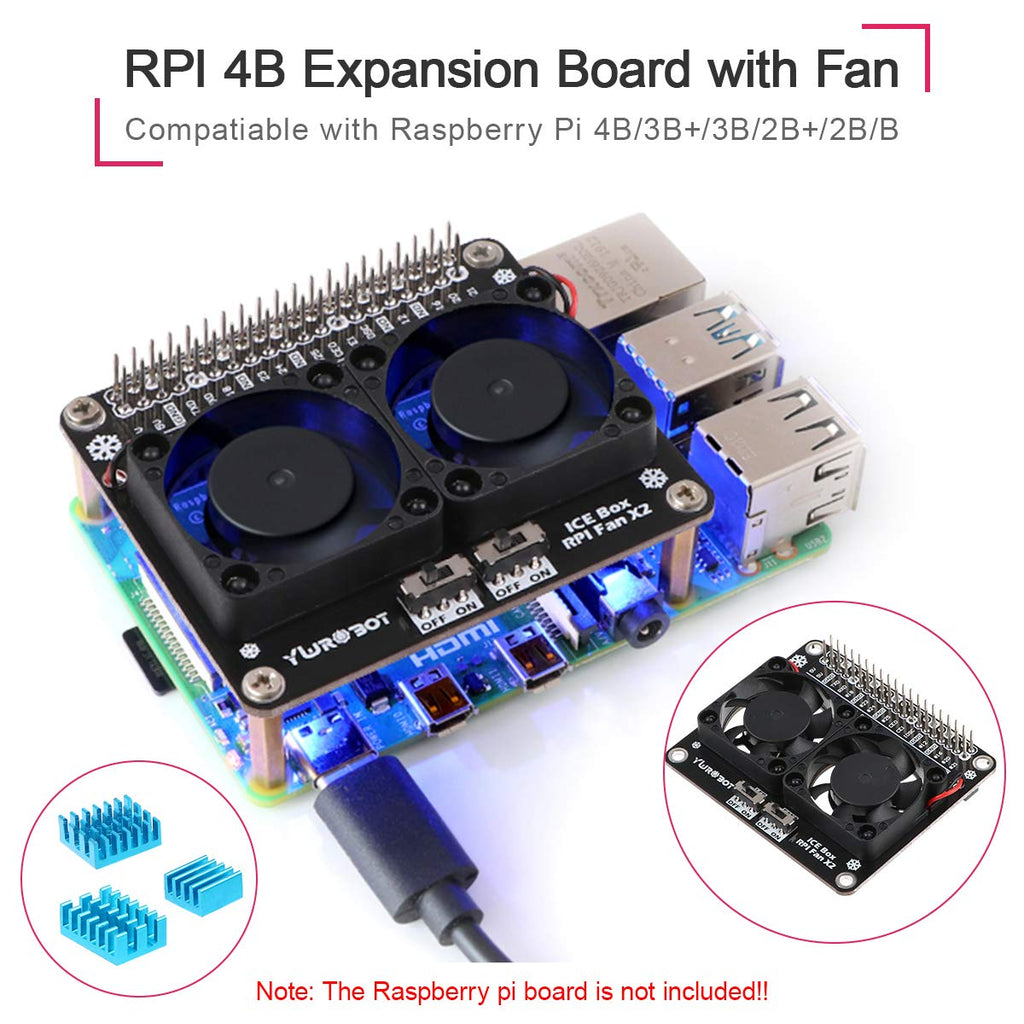 RPI 4B expansion Board with fan