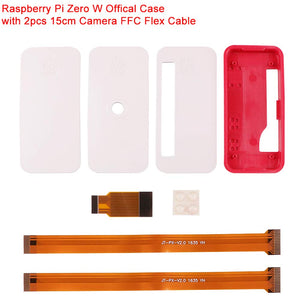 Raspberry Pi Zero W Official Case New  with 2pcs 15cm Camera FFC Flex Cable