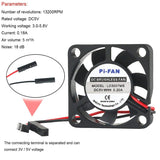 MakerFocus 2PCS Raspberry Pi DC Brushless Cooling Fan 5V Heatsink Cooler One-to-Two Interface