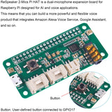 ReSpeaker 2-Mics Pi HAT Dual Microphone Expansion Board for Raspberry Pi Zero/Zero W/3B/2B/B+