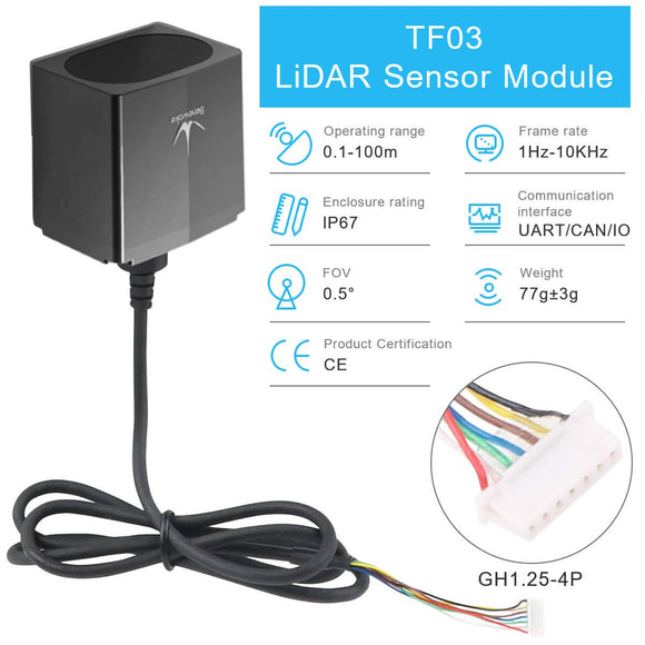 TF03 Lidar Distance Sensor with 180m Measurement
