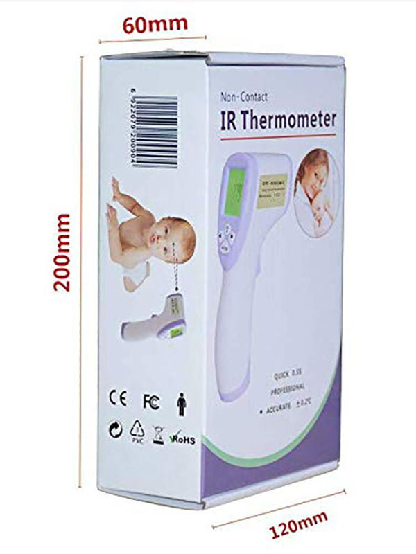 Infrared Digital Thermometer Non-Contact Forehead Ear Temperature Measurements with LCD Display