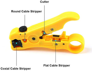 Punch Down Tool, Wire Stripping Tool Cable Stripper Cutter Wire Stripping Tool for Flat or Round UTP