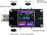 Current Tester USB Power Meter Digital Voltage Tester Display