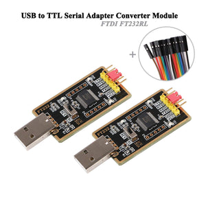 MakerFocus 2pcs USB to TTL Serial Adapter Converter Compatible with Windows 7,8,10,Wince,Linux,Mac