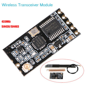 MakerFocus 433Mhz SI4463 Wireless Transceiver Module Serial Port 1200M with Antenna