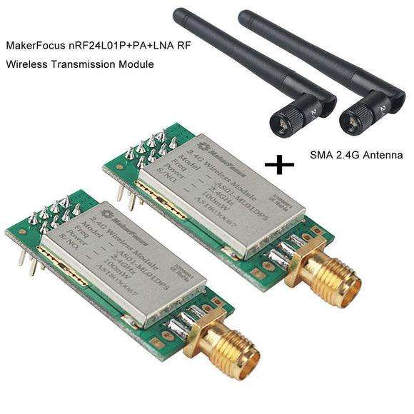 nRF24L01P+PA+LNA RF Wireless Tranceiver Module with Antenna