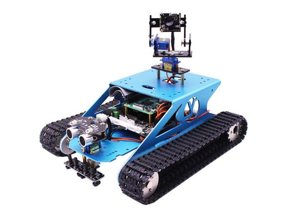 Makerfocus Smart Tank Robot Kit with WIFI Camera For Raspberry Pi 4B/3B+