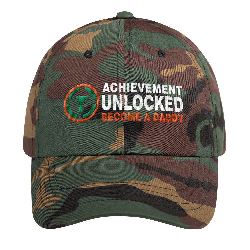 e1d7dadaa39c2 ... Embroidery Hats Gift for New Dad Achievement Unlocked Become A Daddy Classic  Cap ...