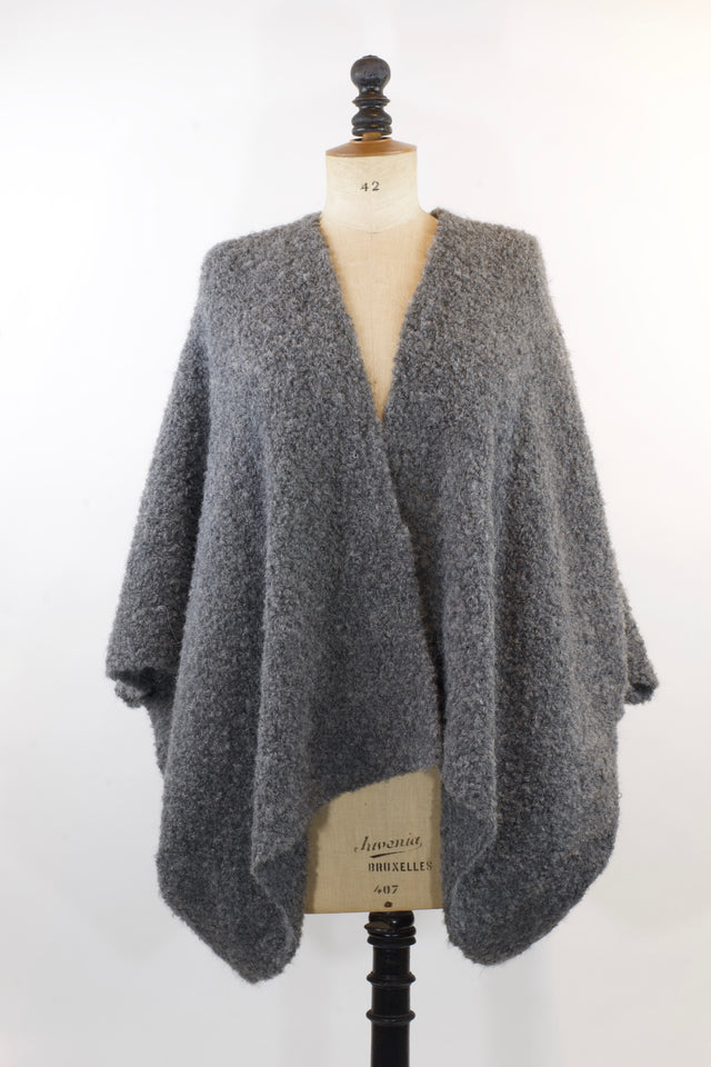 Pluf Poncho - Mountain Grey