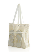 Load image into Gallery viewer, Bride Tote Bag w/ Flip Flops
