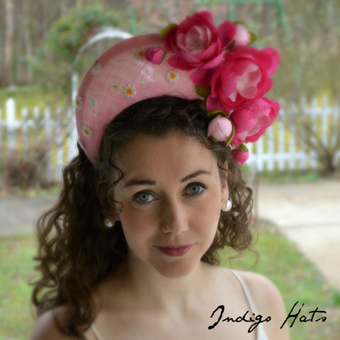 CONTESSA - Pink Crown Headpiece